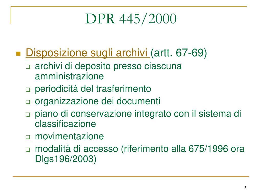 DPR 445/2000