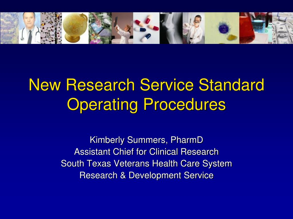 new research service standard operating procedures l.
