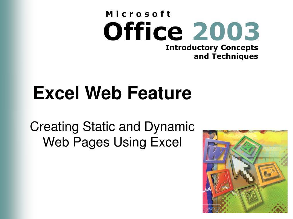 excel web feature l.