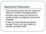 operations statement