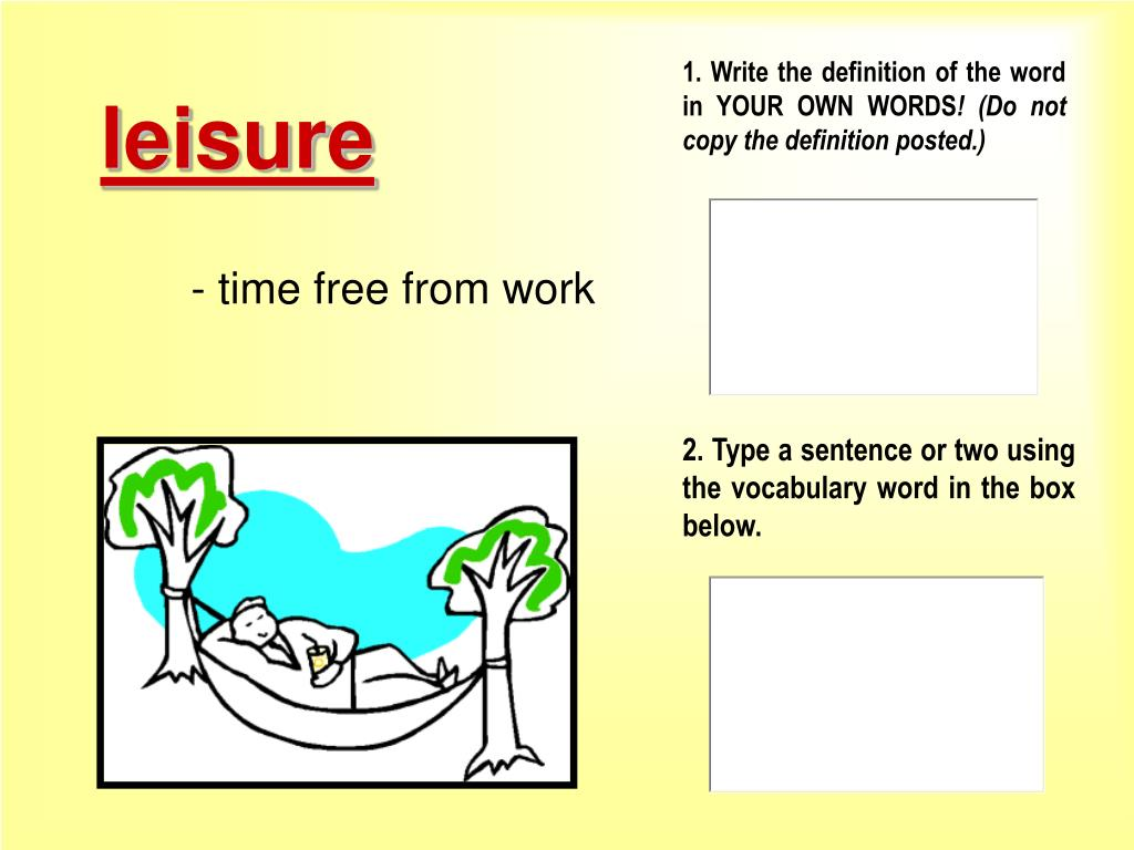 words to write definition essay on