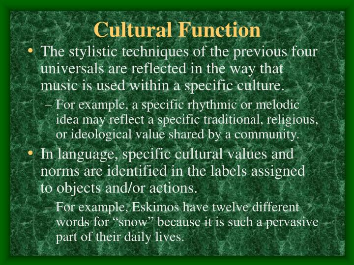 Cultural Function
