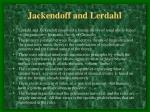 jackendoff and lerdahl