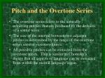 pitch and the overtone series