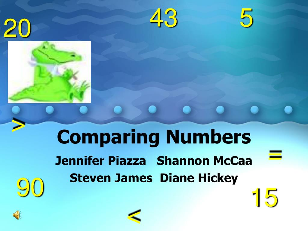 comparing numbers l.