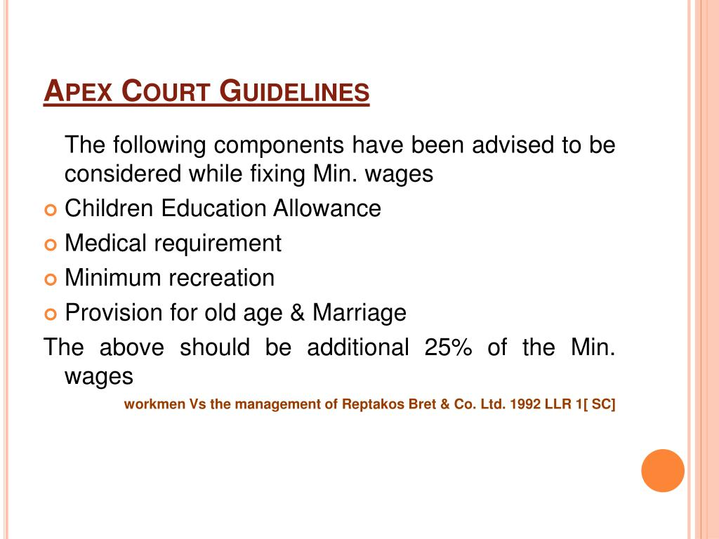 Apex Court Guidelines