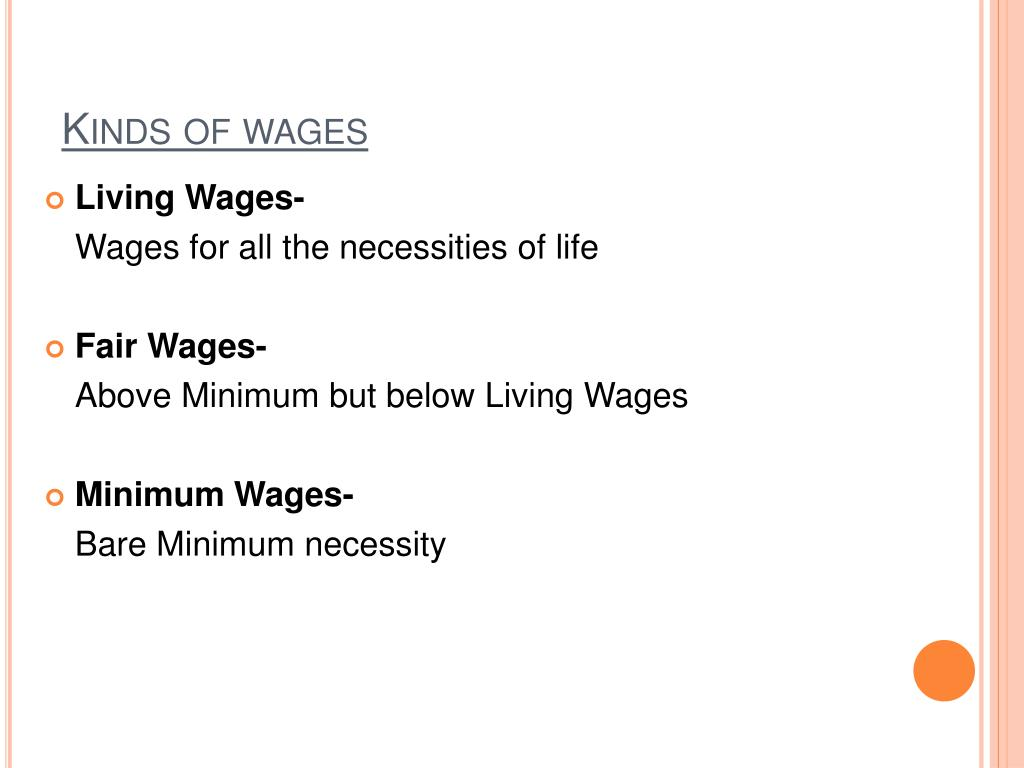 Kinds of wages