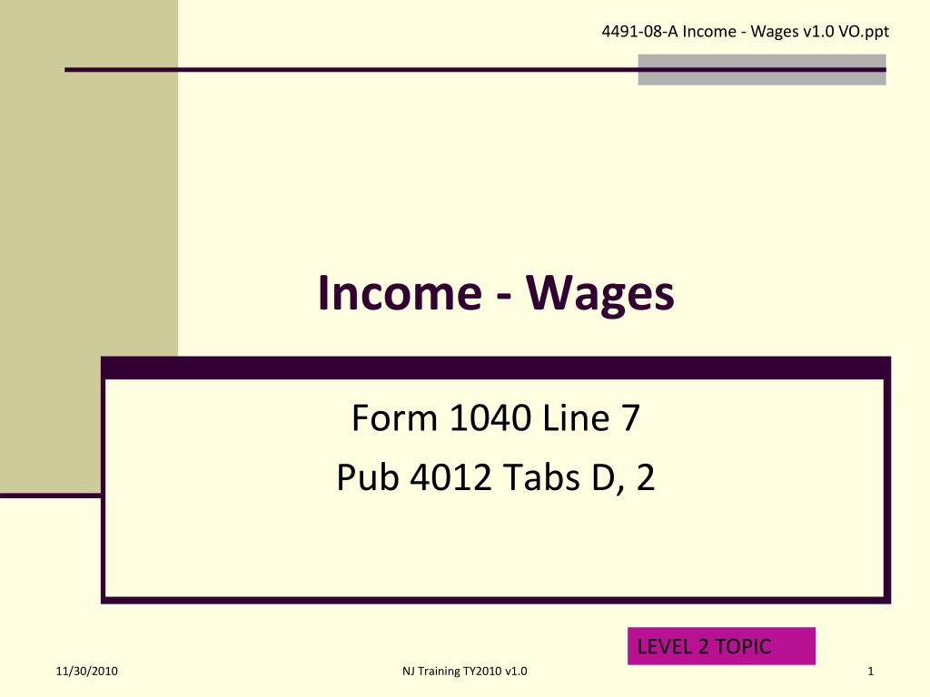 income wages l.