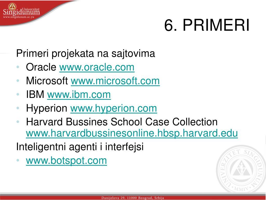 6. PRIMERI