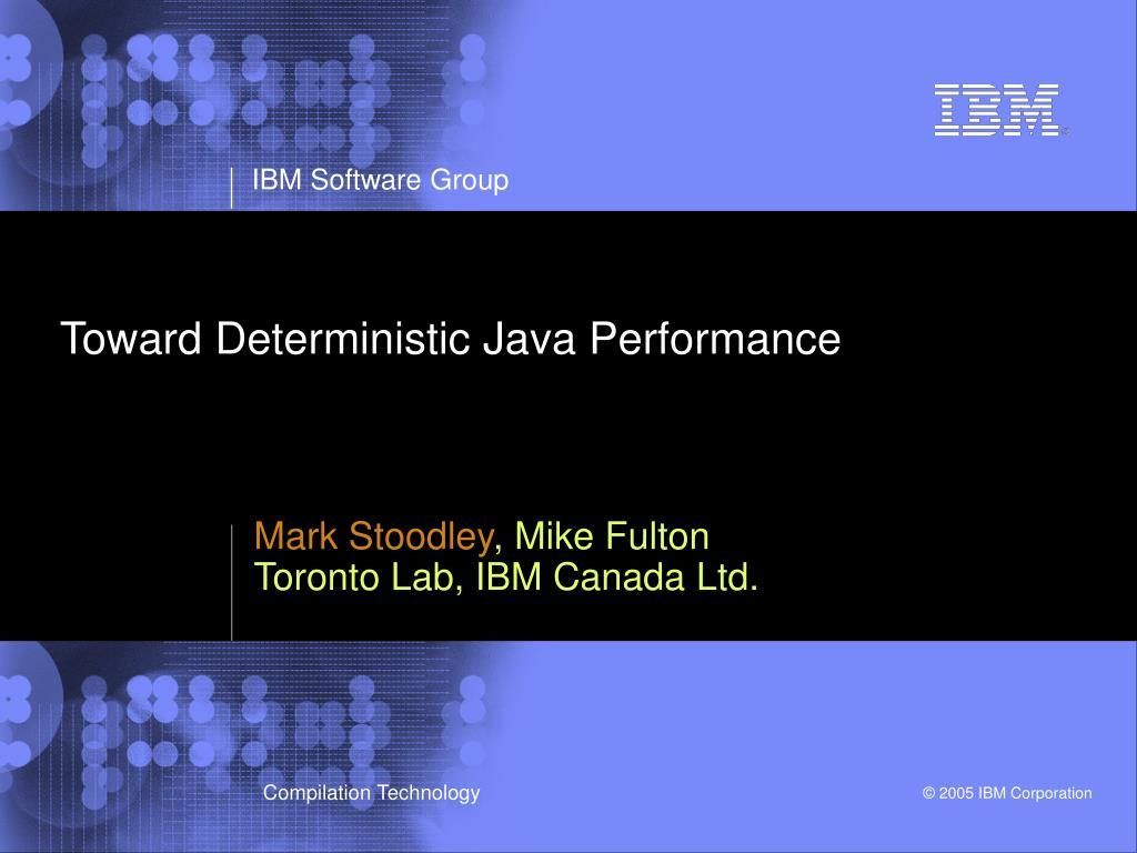 toward deterministic java performance l.