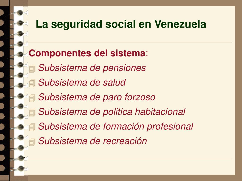 La seguridad social en Venezuela