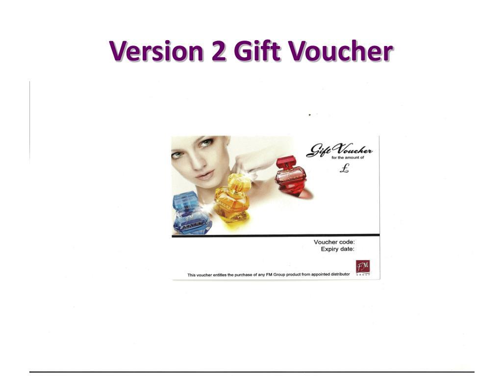 Version 2 Gift Voucher
