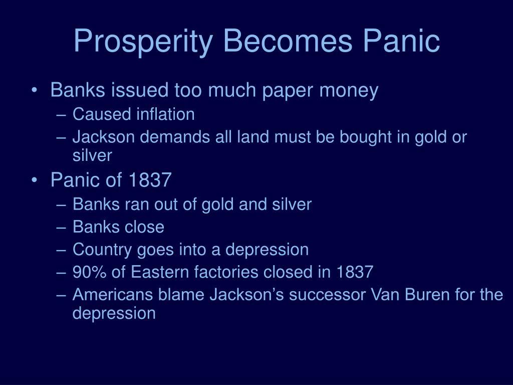 Prosperity Becomes Panic