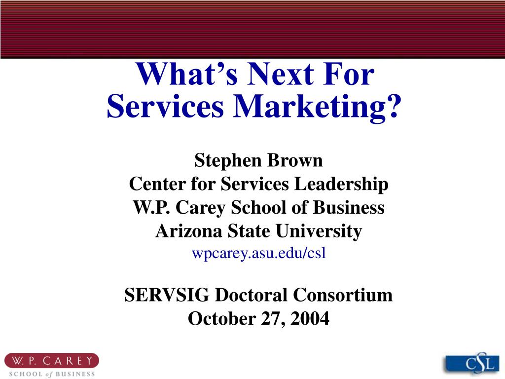 what s next for services marketing