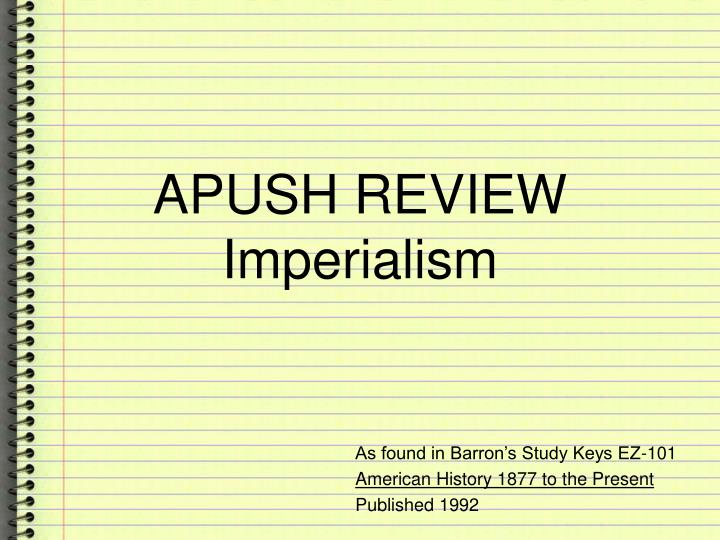 apush test review