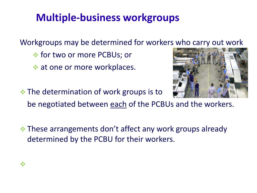 Multiple-business workgroups