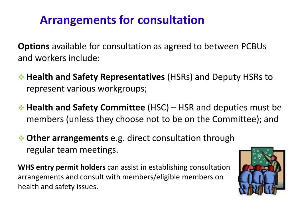 Arrangements for consultation