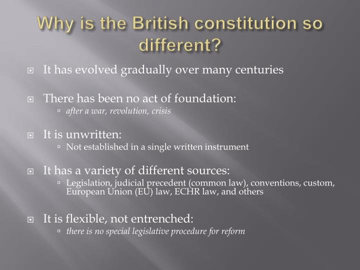 'the uk constitution is neither flexible Constitutional and administrative law 005 conventions of the constitution © corbett haselgrove-spurin 2004 2 the importance of conventions constitutional conventions must be judged by their ability to fulfil their proclaimed function.