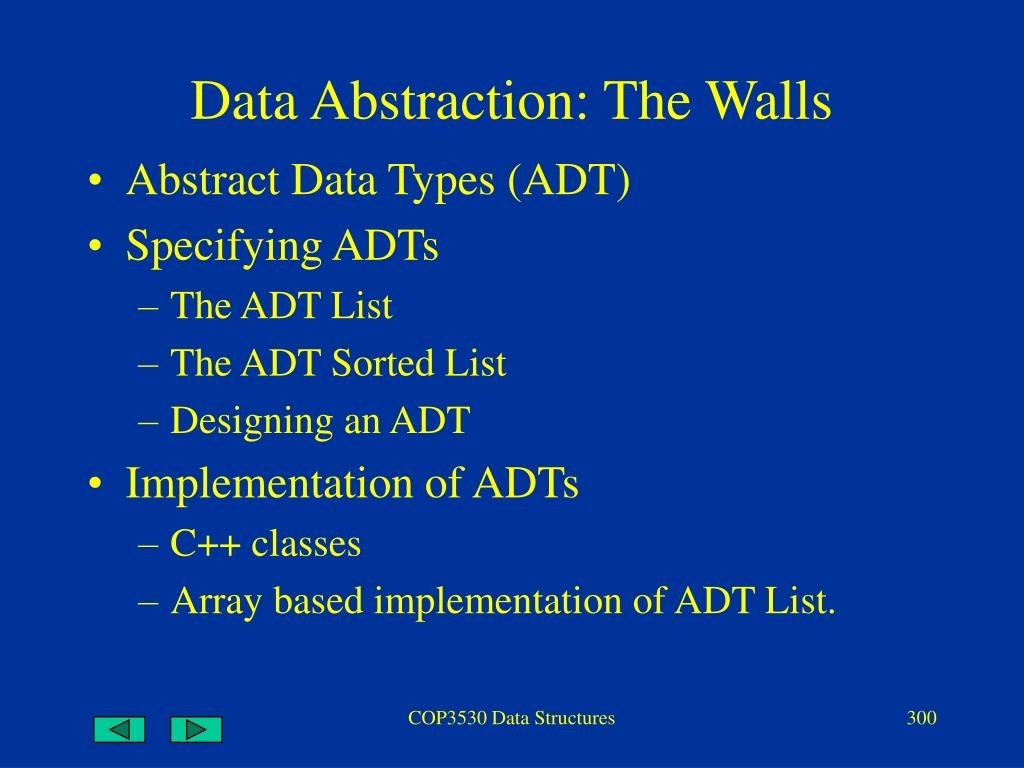 data abstraction the walls l.