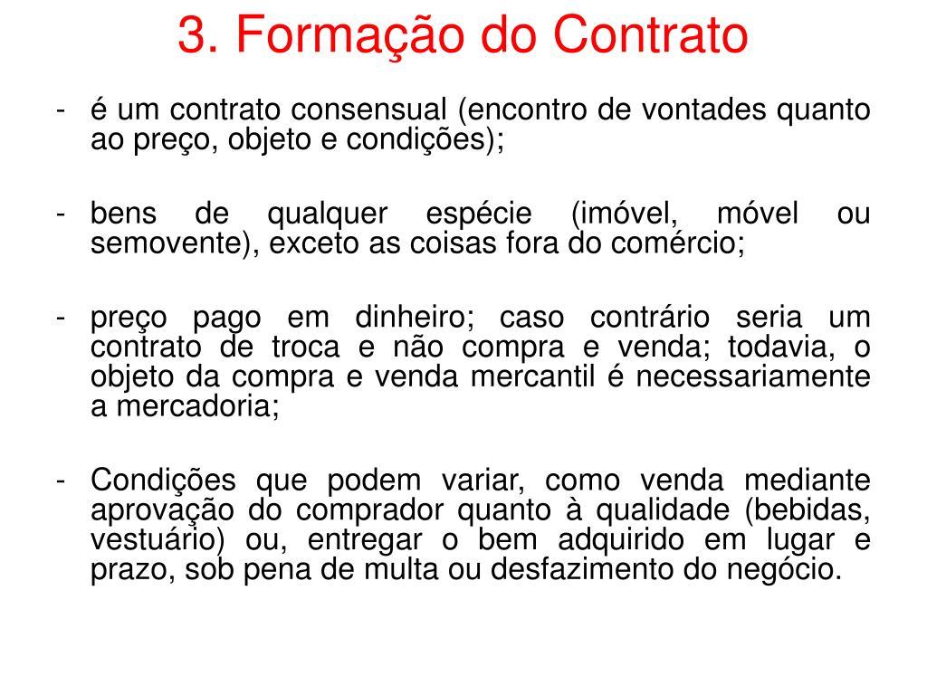 3. Formação do Contrato