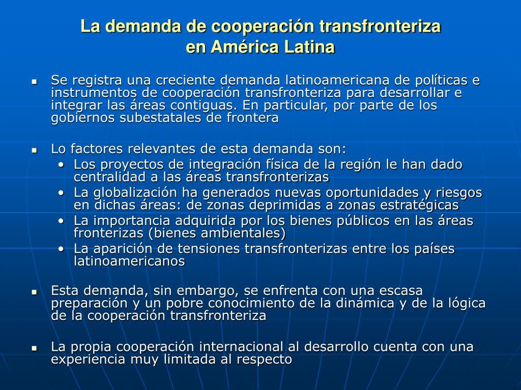 La demanda de cooperaci