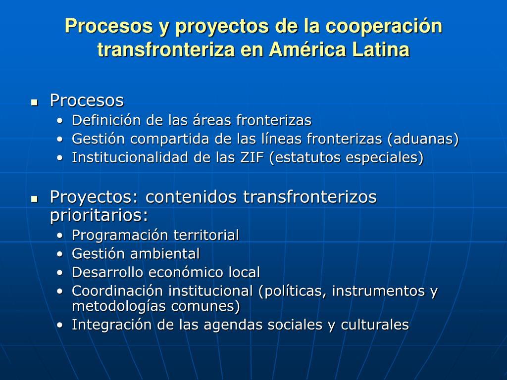 Procesos y proyectos de