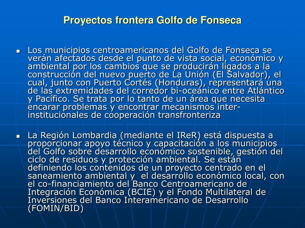 Proyectos frontera Golfo de Fonseca