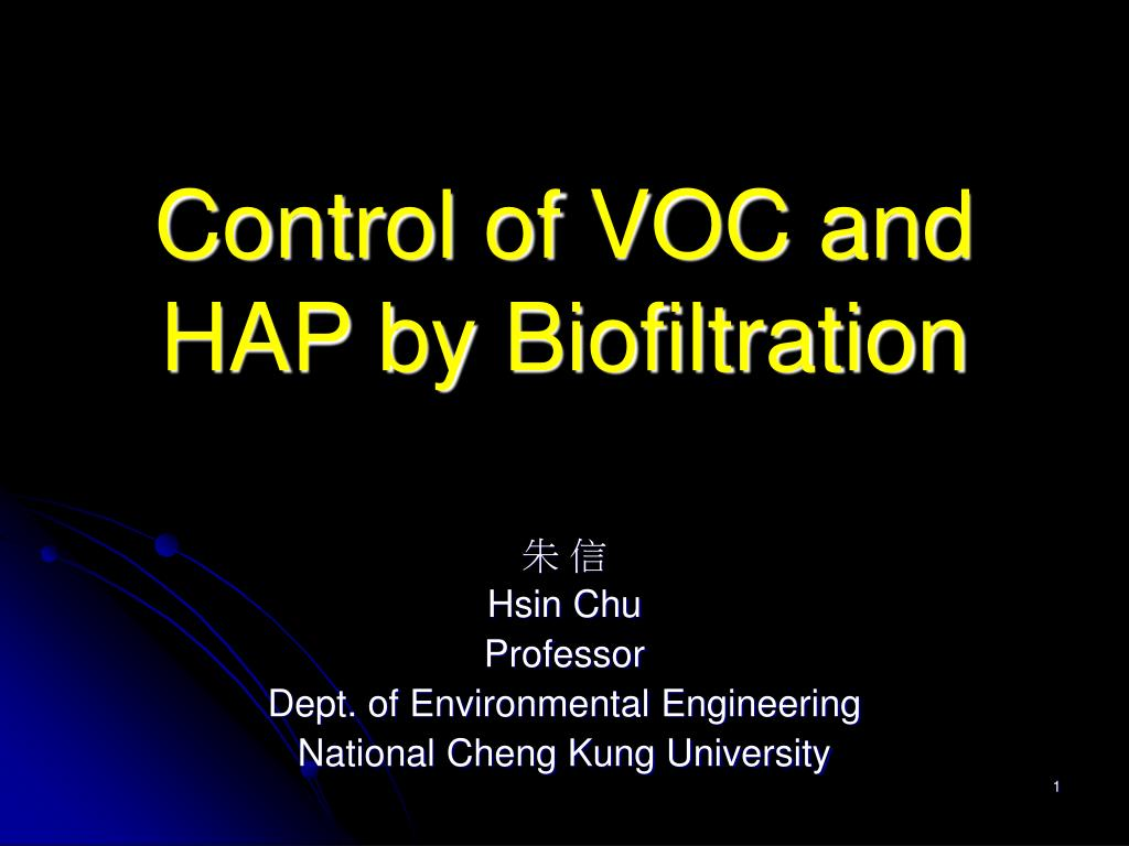 control of voc and hap by biofiltration l.