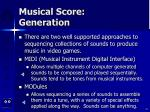musical score generation