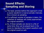 sound effects sampling and storing