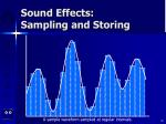 sound effects sampling and storing30