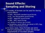 sound effects sampling and storing32