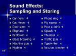 sound effects sampling and storing33