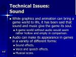 technical issues sound2