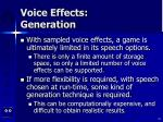 voice effects generation