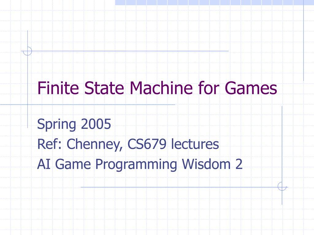 finite state machine for games l.