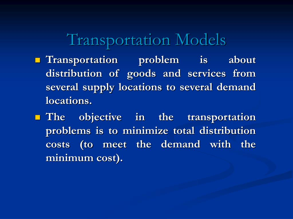 transportation models l.