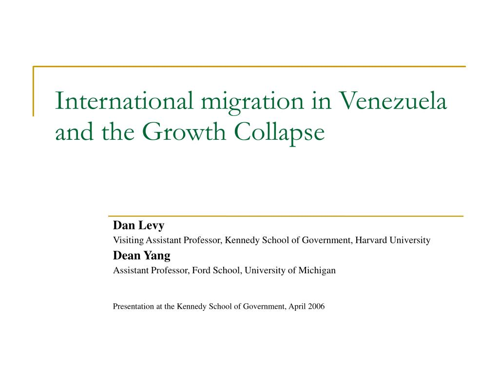 international migration in venezuela and the growth collapse l.
