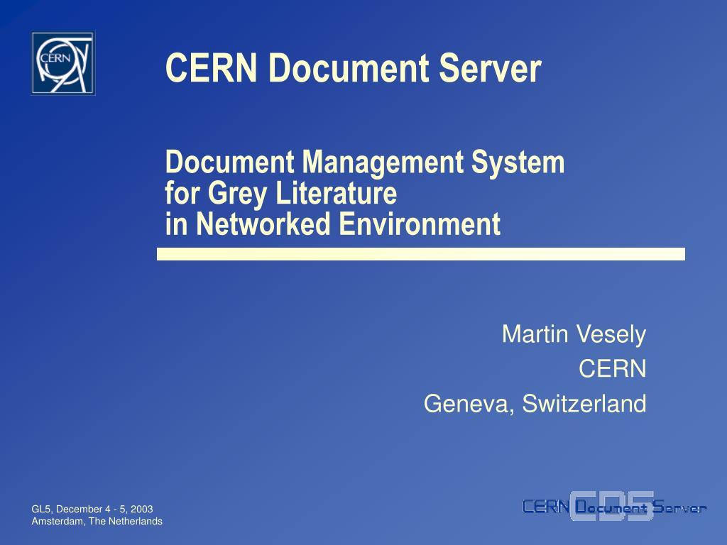 cern document server l.