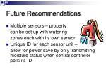 future recommendations