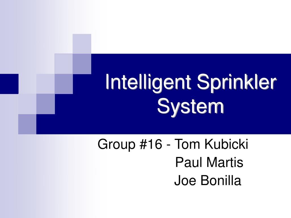 intelligent sprinkler system l.