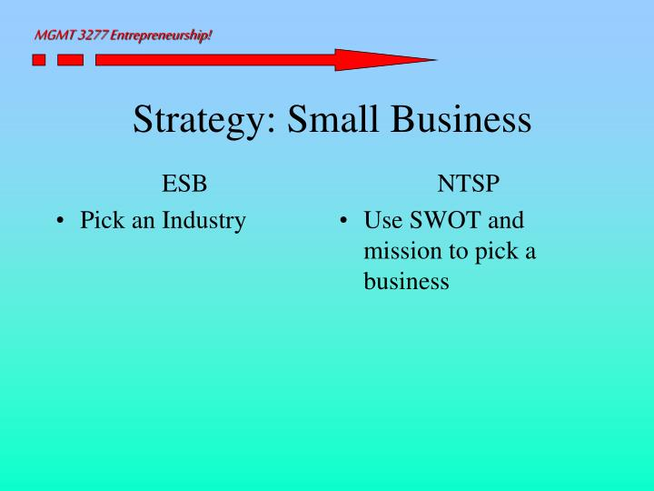 Strategy small business