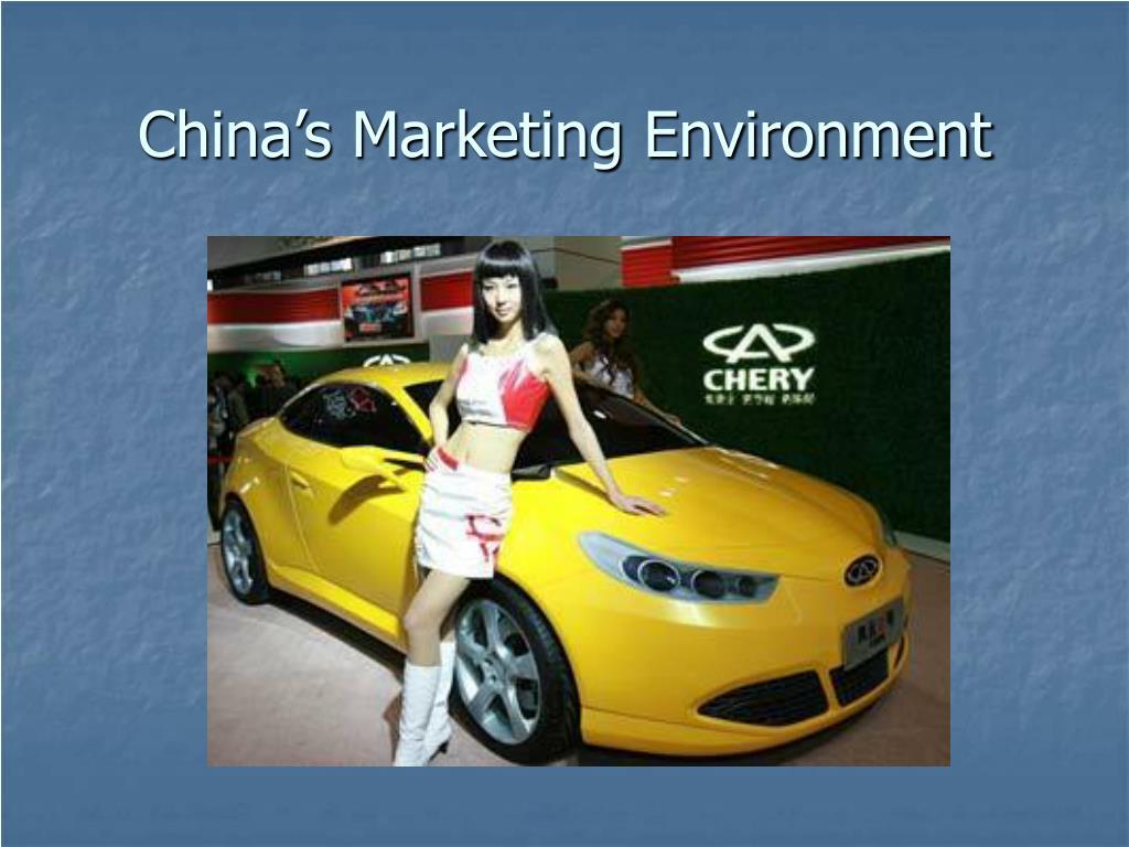 china s marketing environment l.