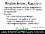 possible solution repository