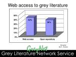 web access to grey literature