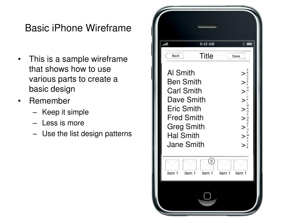 basic iphone wireframe l.
