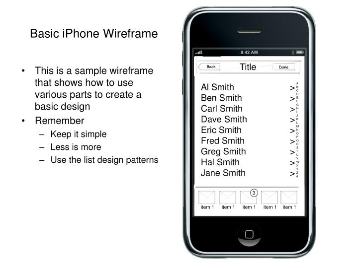 basic iphone wireframe n.