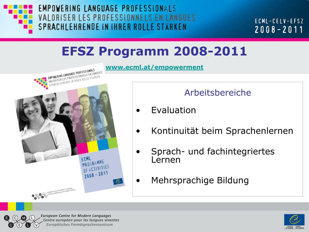 efsz programm 2008 2011 www ecml at empowerment l.