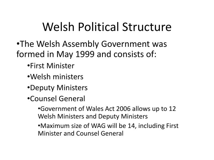welsh political structure n.