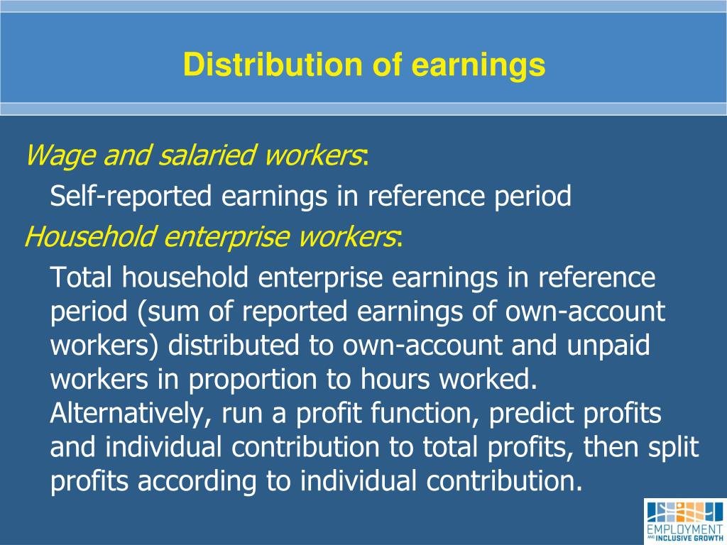 Distribution of earnings